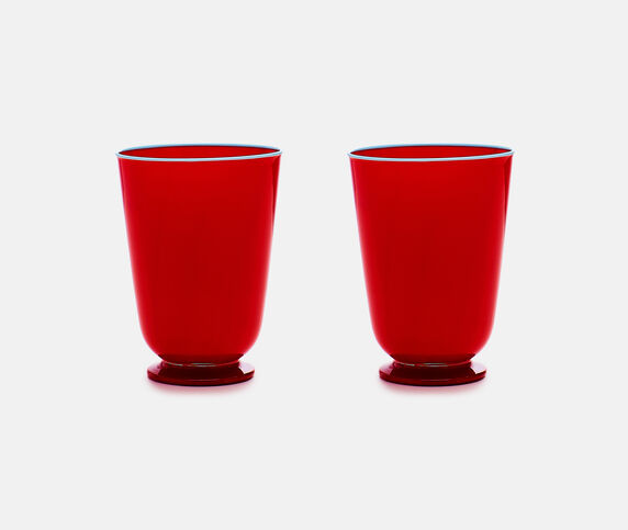 La DoubleJ Glasses, red, set of two