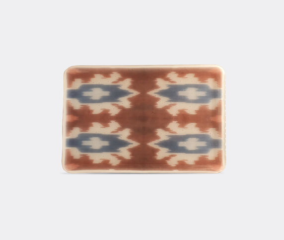 Les-Ottomans 'Ikat' glass tray, red