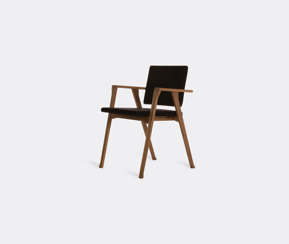 Cassina 'Luisa' small armchair, black, american walnut
