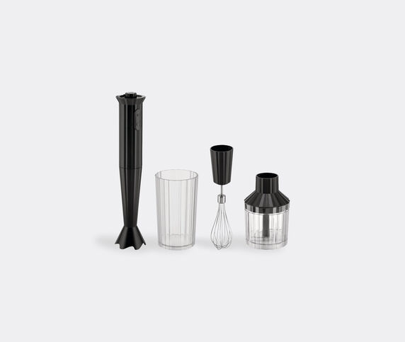 Alessi 'Plissé' mixer set, black, EU plug