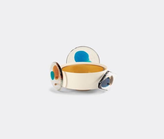 Cassina 'Colourdisc' low vase, amber