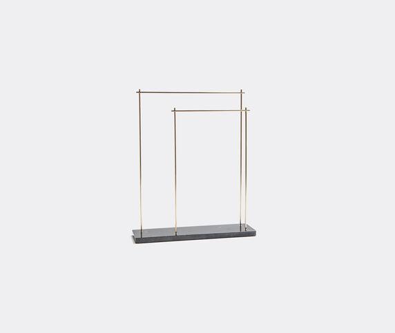Aparentment 'Marblelous' rack, brass and black