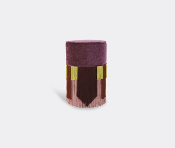 Lorenza Bozzoli Couture 'Couture Geometric Tie' ottoman, purple