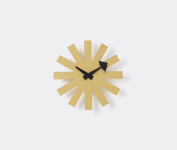 Vitra 'Asterisk' clock, brass