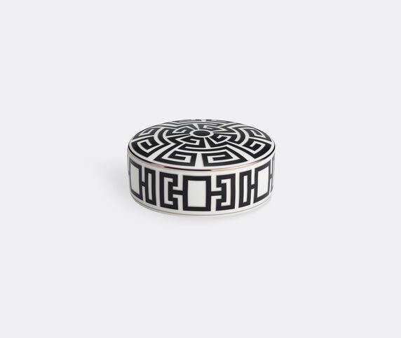 Ginori 1735 'Labirinto' round box with cover, black