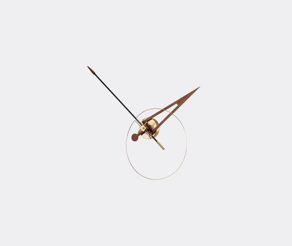 Nomon 'Cris' clock, walnut and brass