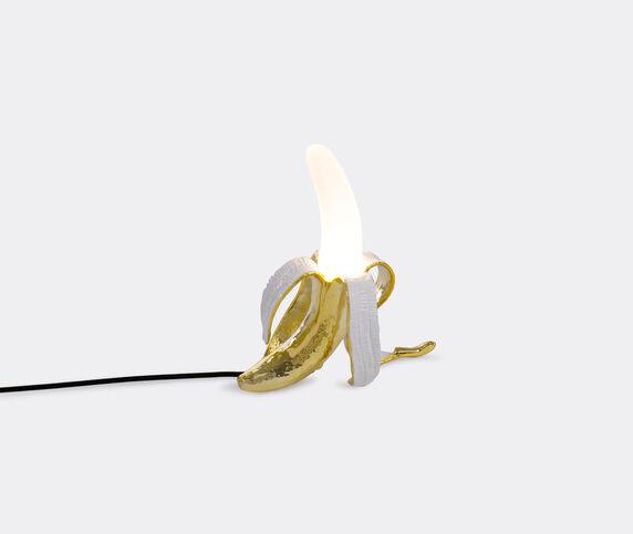 Seletti 'Banana Lamp Louie',gold, UK plug