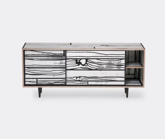 Established & Sons 'Wrongwoods' low cabinet, white and black