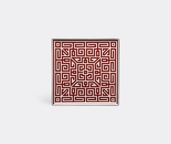 Ginori 1735 'Labirinto' vide poche squared plate, red