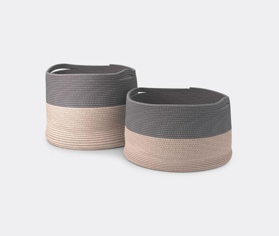 Cassina 'Podor' baskets, set of two, beige & grey