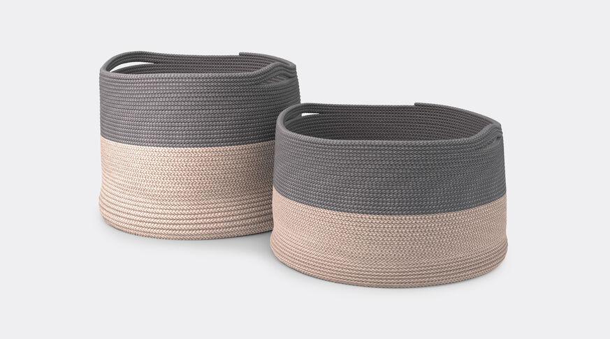 Cassina Podor - Set Of 2 Baskets In Rope 1