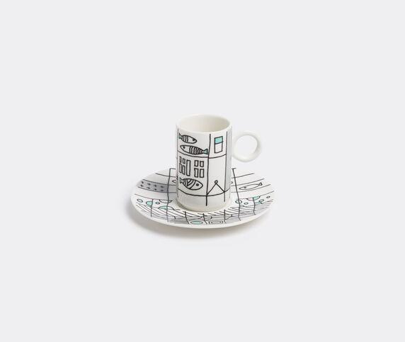 L'Abitare 'Metropolitan fish' coffee cup and saucer