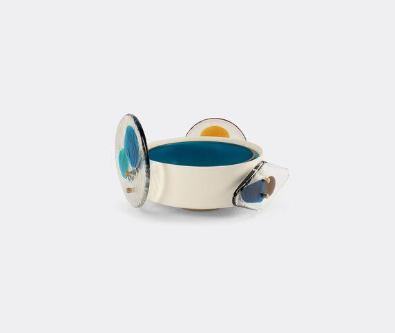 Cassina 'Colourdisc' low vase, blue