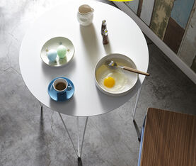 Atipico Chele Rounded Coffee Table - Cm. Ø 35Xh.50 - Signal White 3