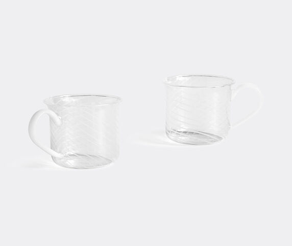 Hay Borosilicate cup, set of two, white