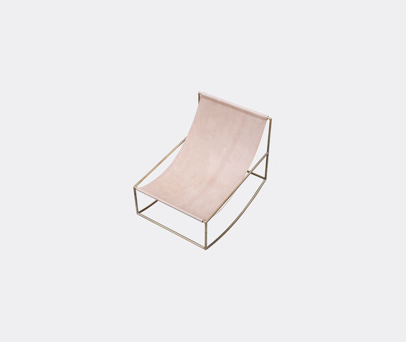 Valerie_objects 'Rocking Chair', brass and leather
