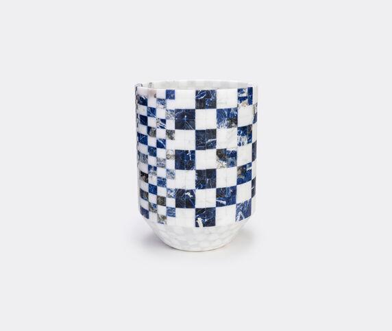 Manuel Coltri 'Hacker' marble vase, large, blue
