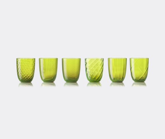 NasonMoretti 'Idra' water glass, set of six, acid green