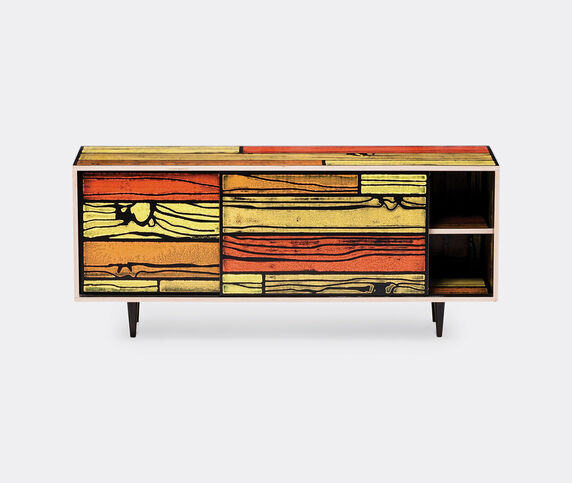 Established & Sons 'Wrongwoods' low cabinet, yellow and red