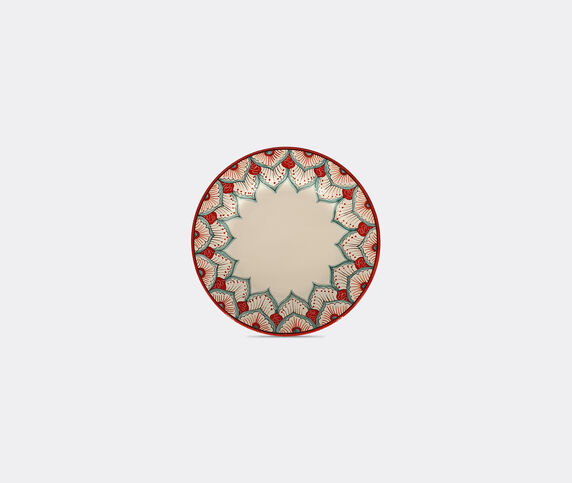 Les-Ottomans 'Peacock' dessert plate, multicolor