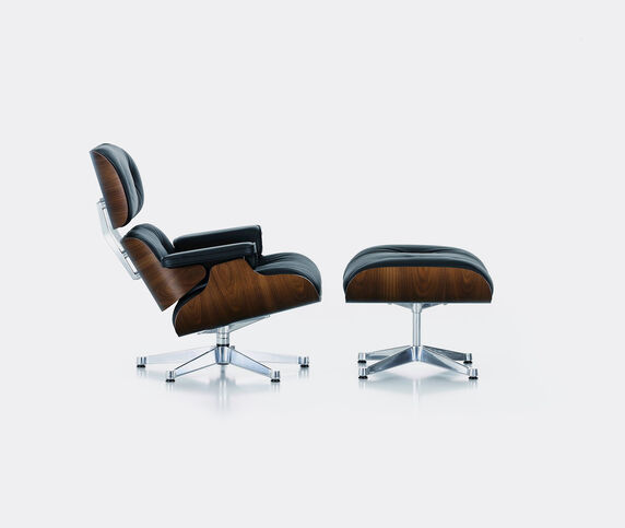 Vitra 'Lounge Chair and Ottoman', walnut and black