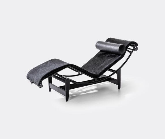 Cassina 'LC4' chaise longue, black hairyskin