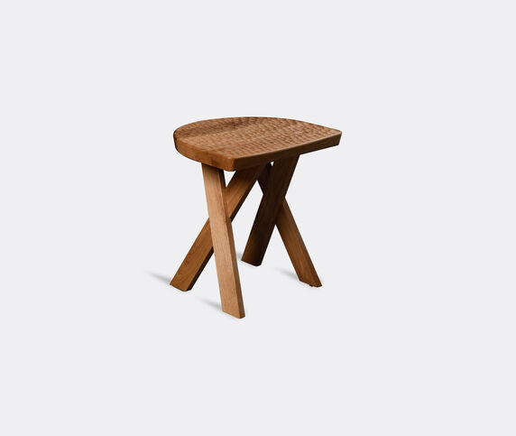Zanat 'Touch Half Moon' stool, oak