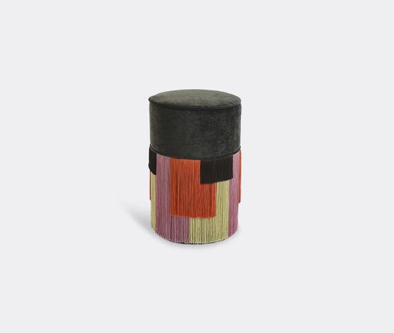 Lorenza Bozzoli Couture 'Couture Geometric Stripe' ottoman, brown