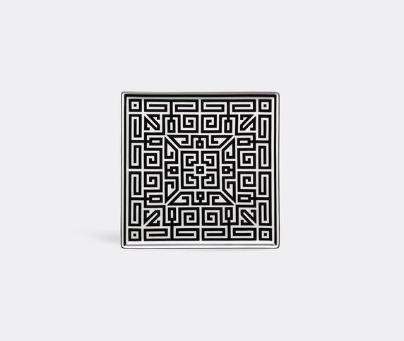 Ginori 1735 'Labirinto' vide poche squared plate, black