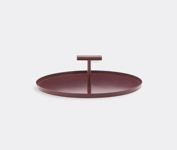 Normann Copenhagen 'Glaze' cake tray, dark red