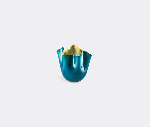 Venini 'Fazzoletto Opalino' vase, S, horizon and amber
