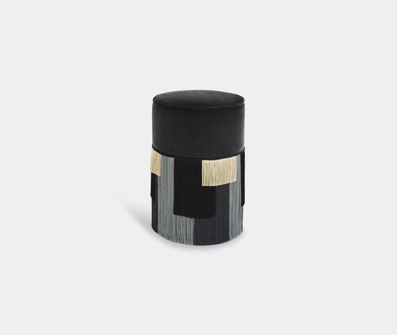 Lorenza Bozzoli Couture 'Couture Geometric Stripe' ottoman, grey