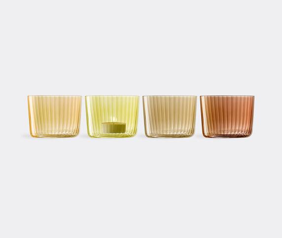 LSA International 'Gems' tealight holder, set of four, amber