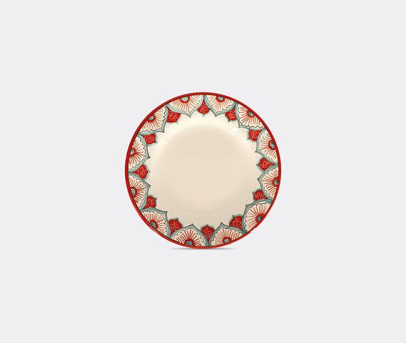 Les-Ottomans 'Peacock' dinner plate, multicolor