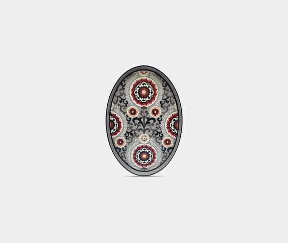 Les-Ottomans 'Ikat' iron tray, grey