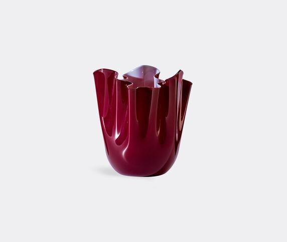 Venini 'Fazzoletto Opalino' vase, M, red