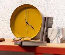 Atipico Dish Clock Iron Wall Clock - Ø Mm 335Xh.35 - Honey Yellow 5