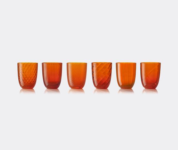 NasonMoretti 'Idra' water glass, set of six, orange