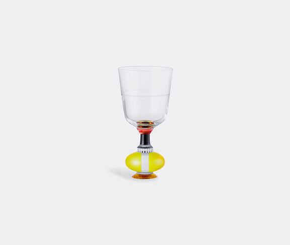 Reflections Copenhagen Richmond Short Crystal Glass   Clear/Black/Coral/Bright Yellow - Set Of 2  1