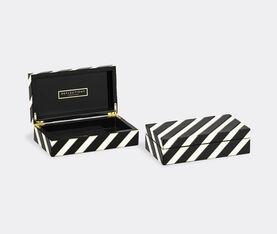 Reflections Copenhagen Venice Cabinet | Black/White/Brass 2