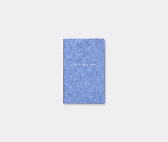 Smythson 'Live Love Laugh' note book, Nile blue