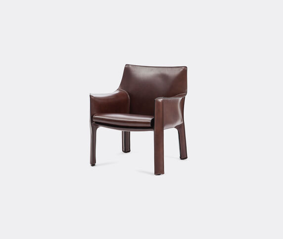 Cassina 'Cab 413' armchair, leather, brown