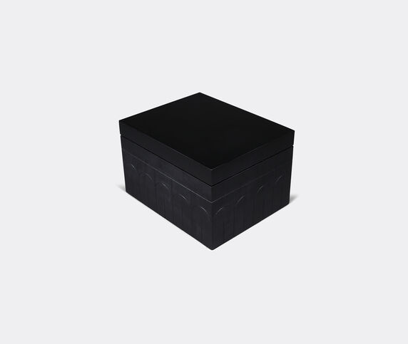 Zanat 'Branco' box, large, black