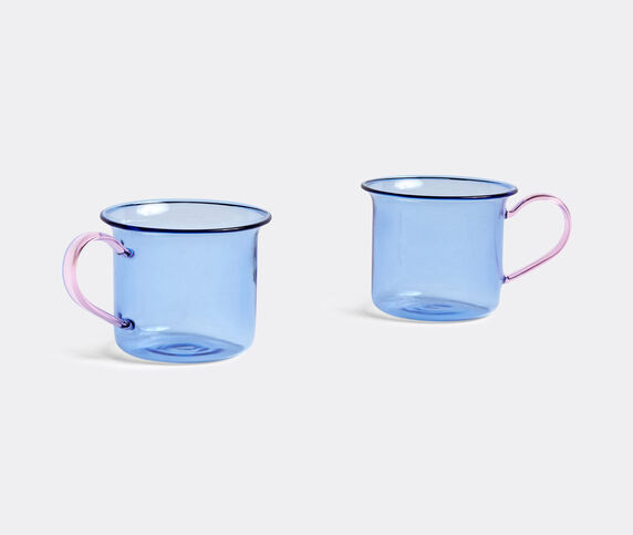 Hay Borosilicate cup, set of two, light blue