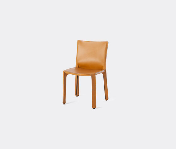 Cassina 'Cab 412' chair, leather, beige