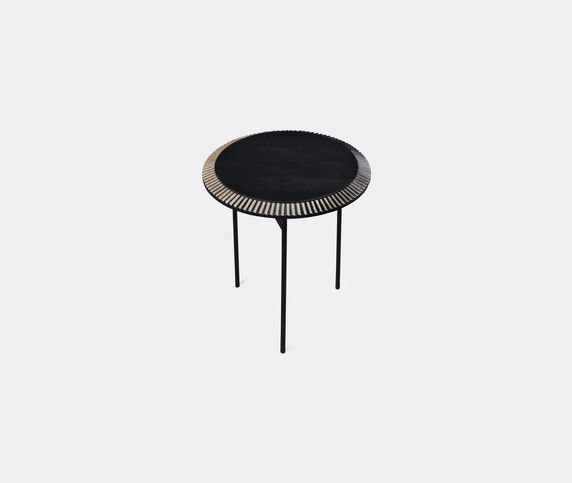 Zanat 'Piano' table, small, white on black