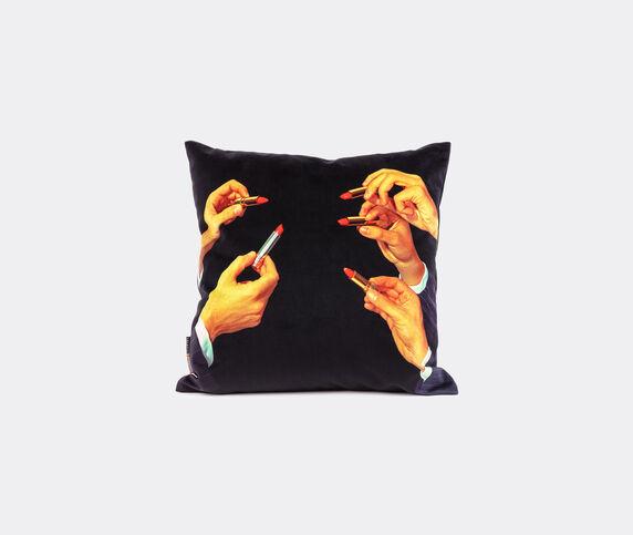 Seletti 'Lipsticks' cushion, black, UK
