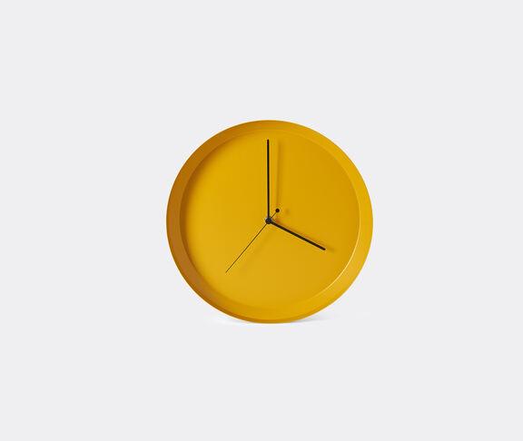 Atipico 'Dish' wall clock, yellow