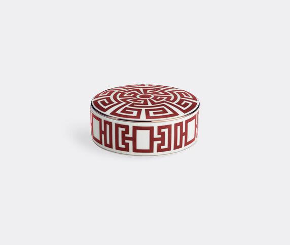 Ginori 1735 'Labirinto' round box with cover, red