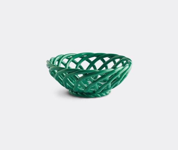 Octaevo 'Sicilia' ceramic basket, green, small